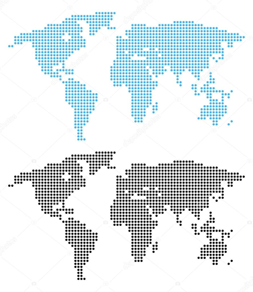 Blue and black dots world map on white background stock vector blue and black dots world map on white background stock vector gumiabroncs Images