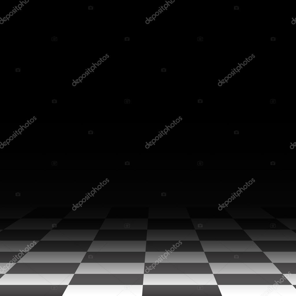 Background chess floor, black