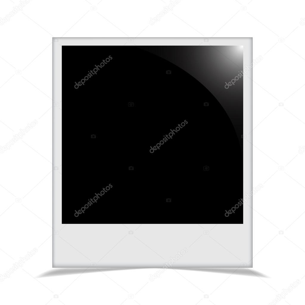 Marco de fotos con una sombra detrás de él enmarcada — Archivo ...