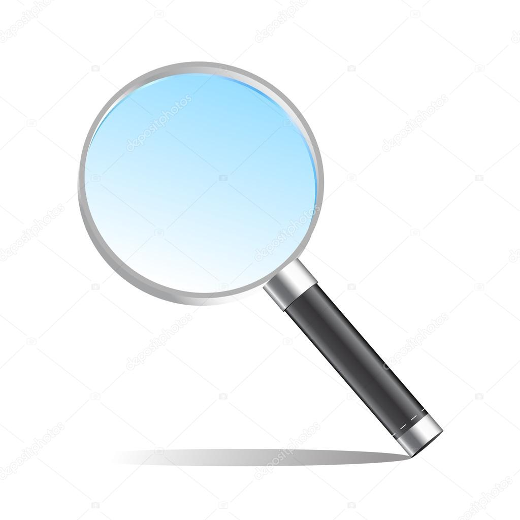 Realistic magnifier magnifying glass vector illustration ...