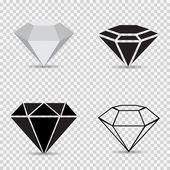 Fotografie Symbole verschiedene Diamanten auf einer grau karierten Hintergrund-Vektor