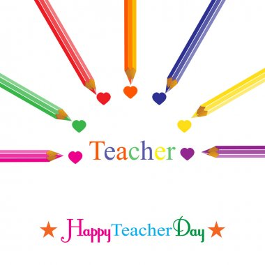 Colorful background on Teachers' Day vector illustration