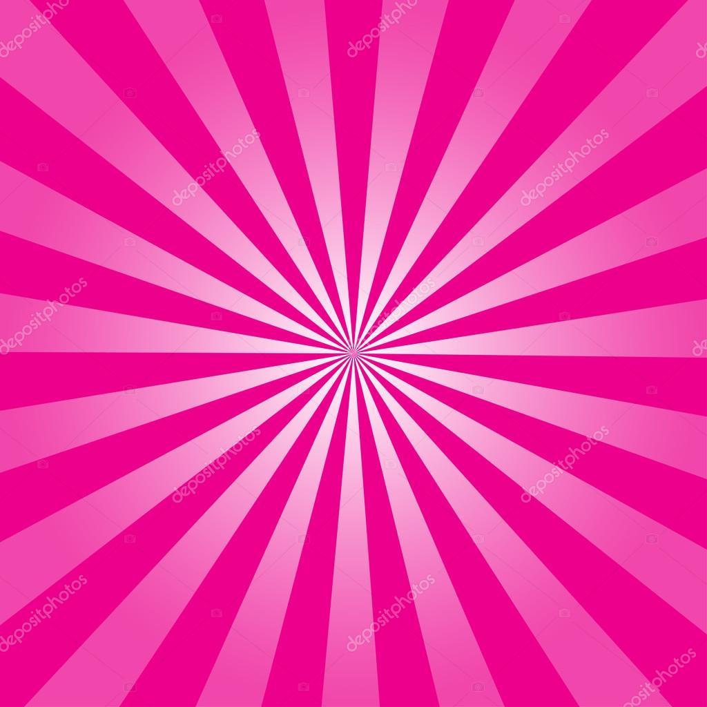 Pink ray retro background vector illustration