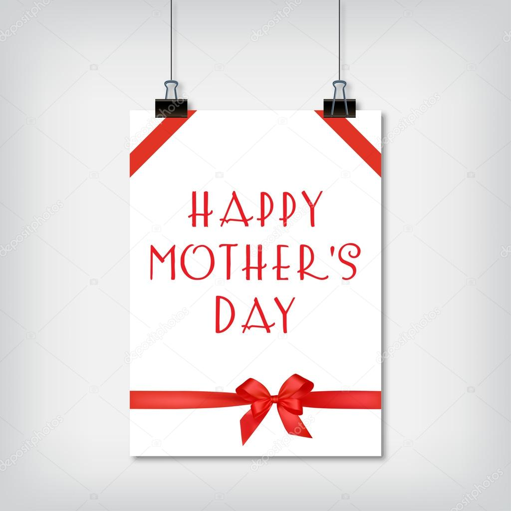 Stylish background for the holiday Mothers Day vector illustration
