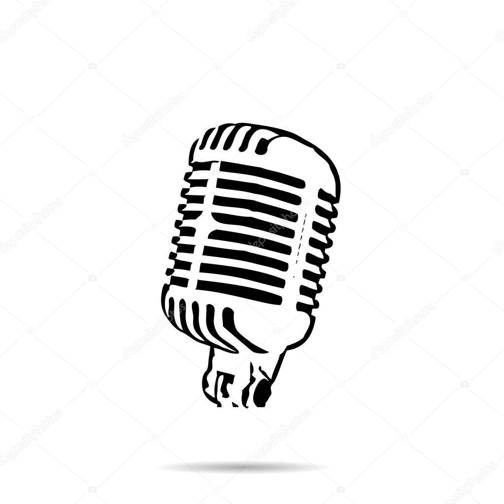retro microphone - Clip Art Library
