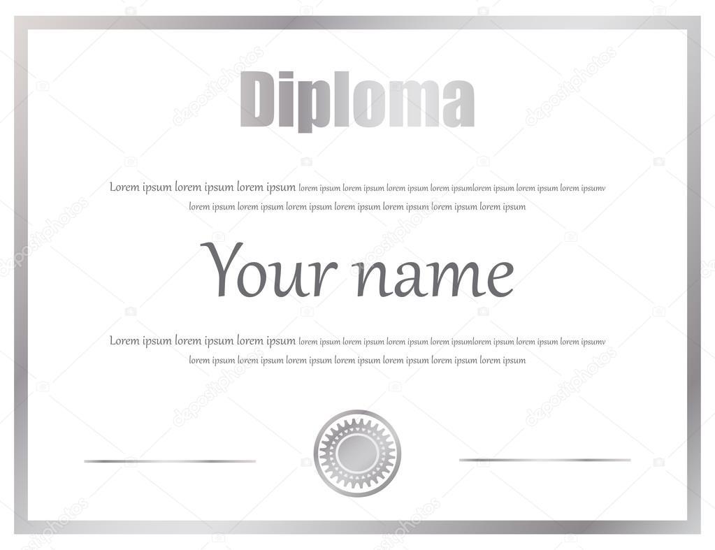 Zertifikat, Diplom Abschluss Vektor Vorlage — Stockvektor ...