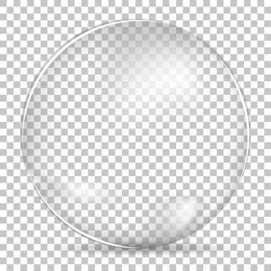 Transparent bubble bowl big clip art vector