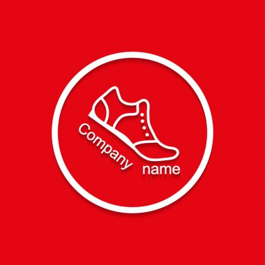 Logo sneakers with shadow bent flat style