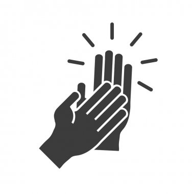 Flapping his hands in a flat style icon