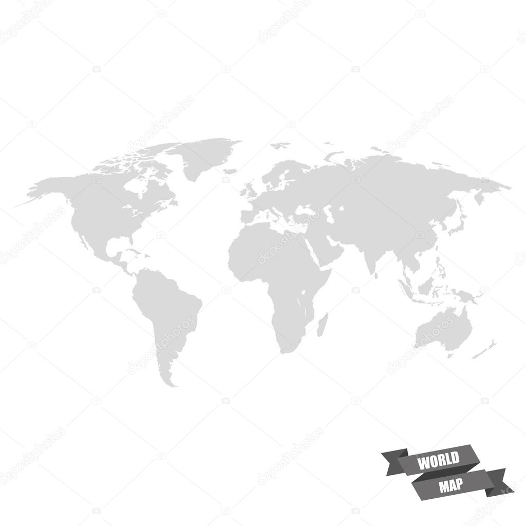 World map grey color on a white background stock vector world map grey color on a white background stock vector gumiabroncs Gallery