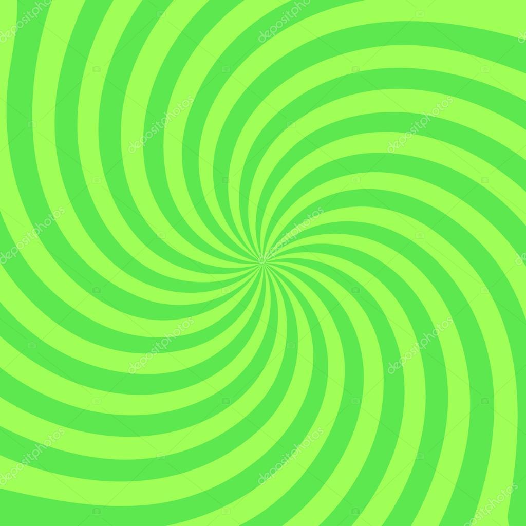 Retro radial background illustration stylish green colored
