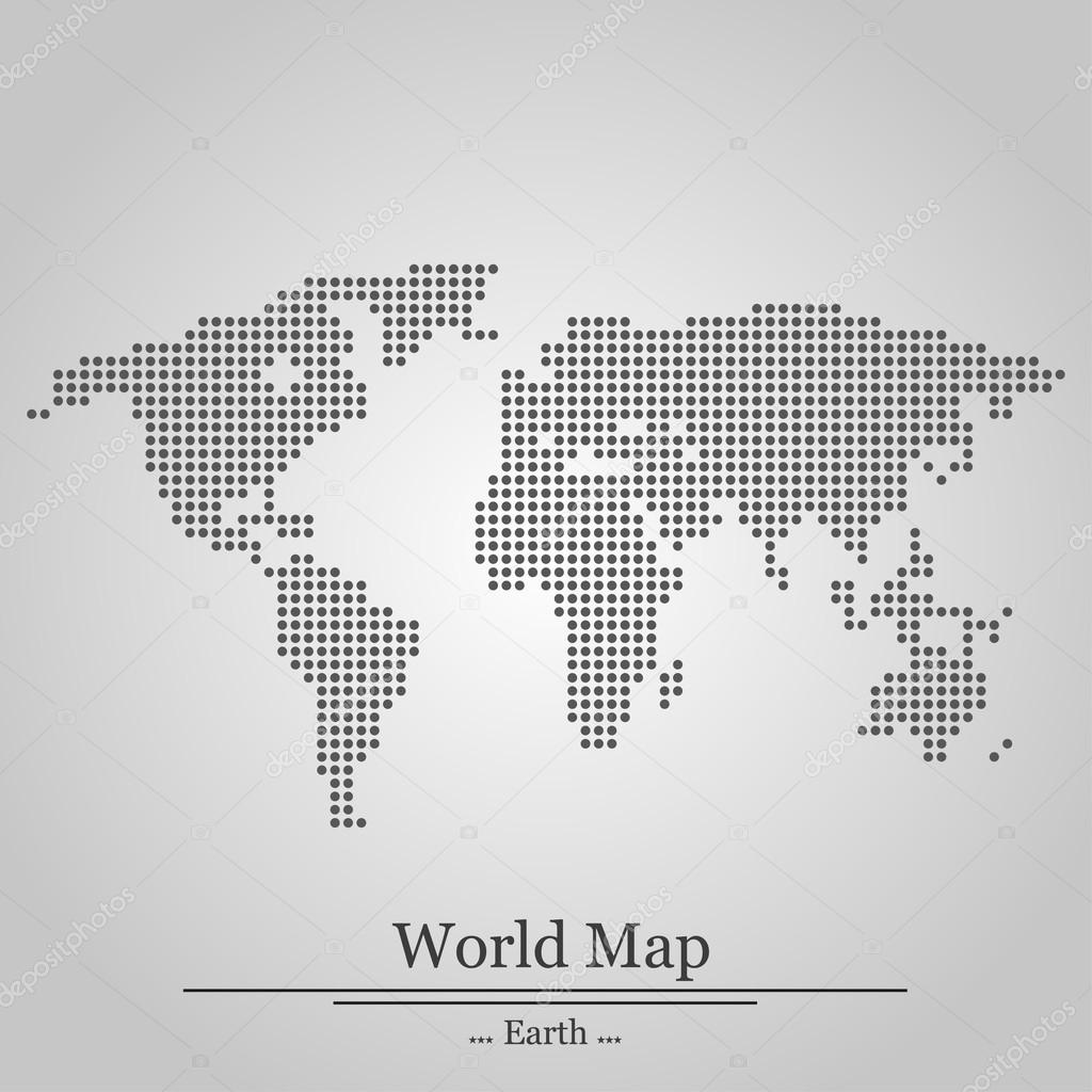 World map with circles on grey background stock vector world map with circles on grey background stock vector gumiabroncs Gallery