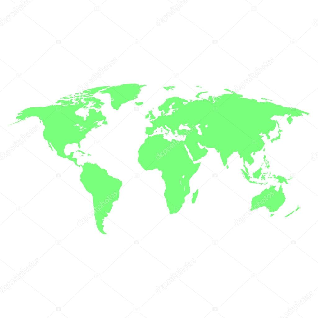 World map green colored on a white background stock vector world map green colored on a white background stock vector gumiabroncs
