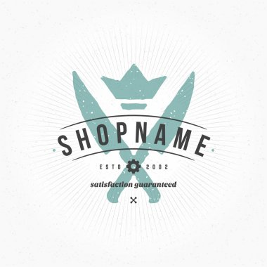 Restaurant Logo Hand Drawn Template. Vector Design Element Vintage Style for Logotype
