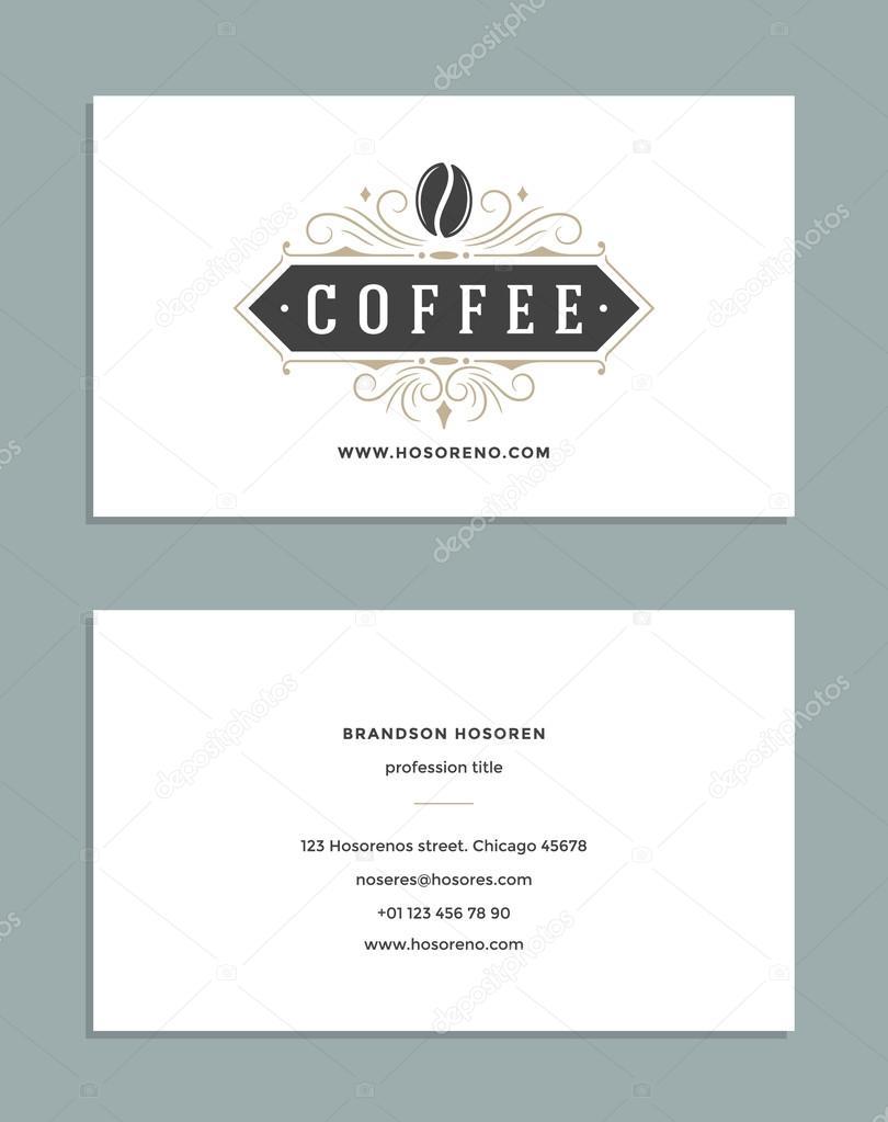 Diseño tarjeta de visita y logotipo de cafetería de plantilla de ...