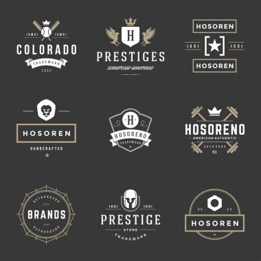 Vintage Logos Design Templates Set