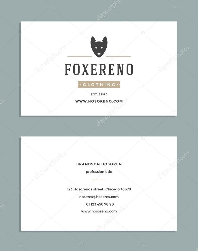 Diseño de tarjetas y plantilla de logotipo de estilo Retro — Archivo ...