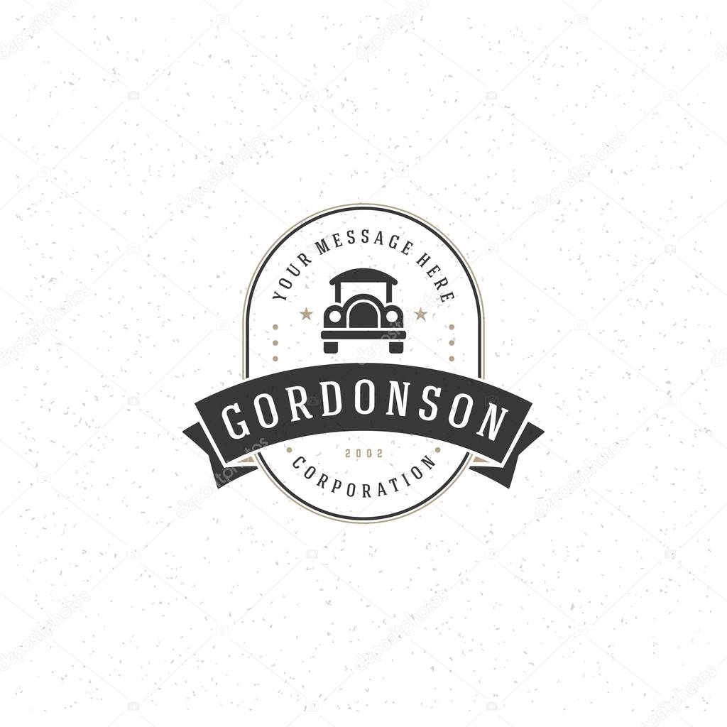 old car logo template ストックベクター provectors 109621564