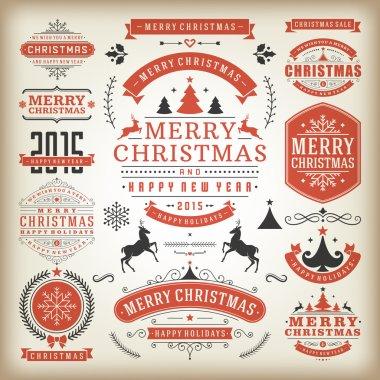Christmas decoration design elements