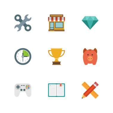 Flat  icons for website