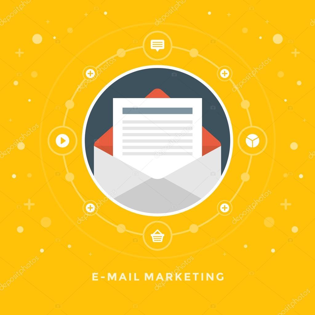 Concept of E-mail marketing