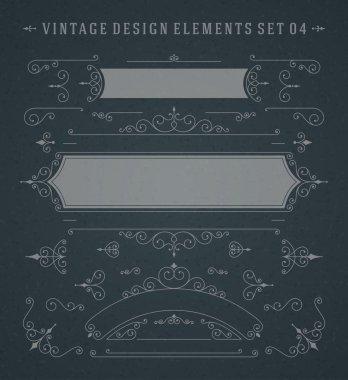 Vintage Vector Swirls Ornaments Decorations Design
