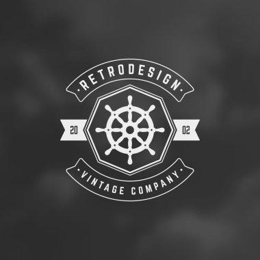 Nautical Retro Vintage Insignia, Logotype