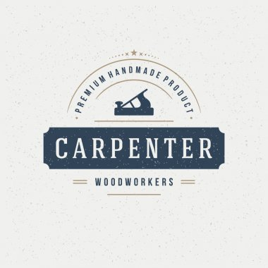 Carpenter Design Element in Vintage Style for Logotype
