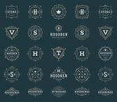 Set Luxury Logos template flourishes calligraphic elegant