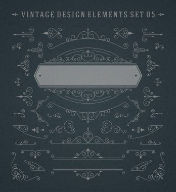 Vintage Vector Swirls Ornaments Decorations