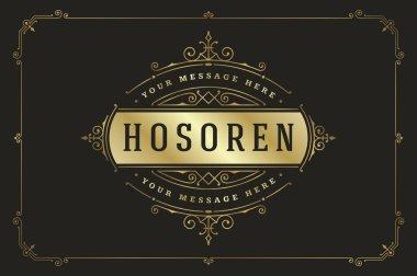 Luxury Logo template flourishes calligraphic elegant ornament