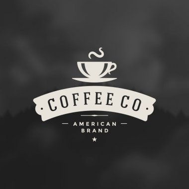 Coffee Shop Logo Design Element