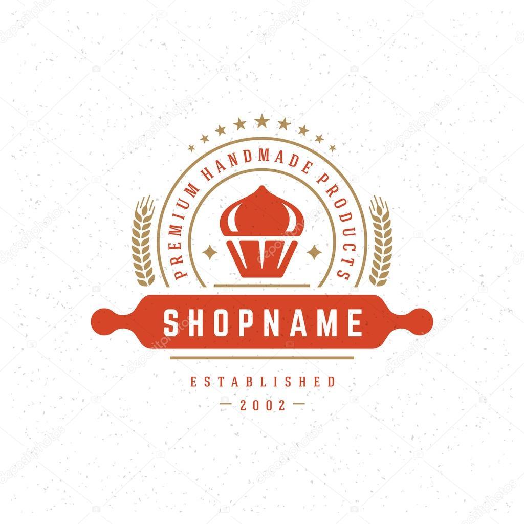 Bakery Shop Logo Design Element Stock Vector C Provectors 83130308