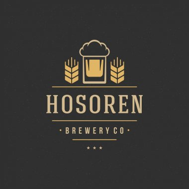 Beer Logo Design Element