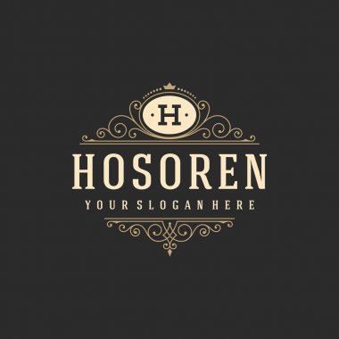 Luxury Logo template flourishes calligraphic