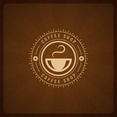 Coffee Shop Logo Design Element