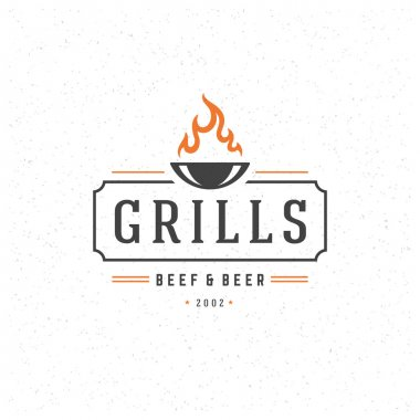 Grill Design Element in Vintage Style