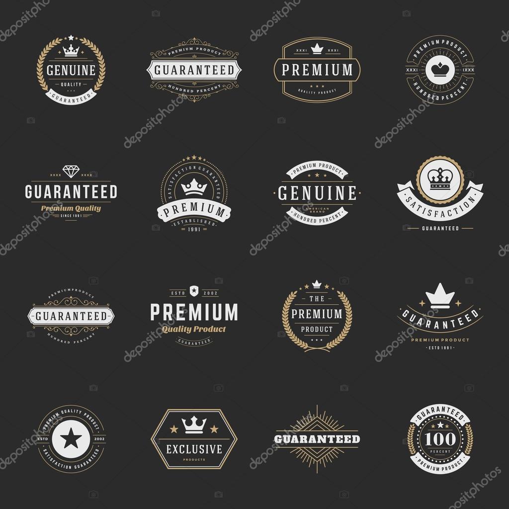 Retro Vintage Premium Quality Labels set