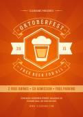 Oktoberfest Plakat oder Flyer Vorlage