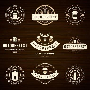 Beer festival Oktoberfest celebrations labels
