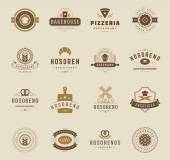 Bakery Shop Logos, Badges and Labels