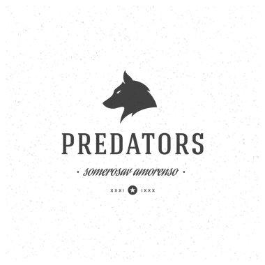 Wolf Retro Vintage Insignia or Logotype