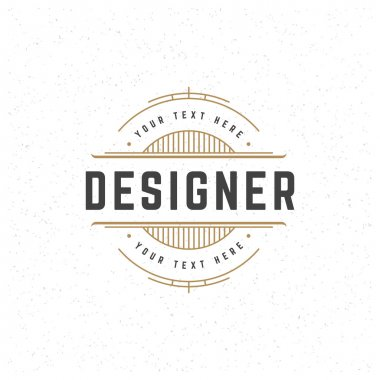 Designer Design Element in Vintage Style
