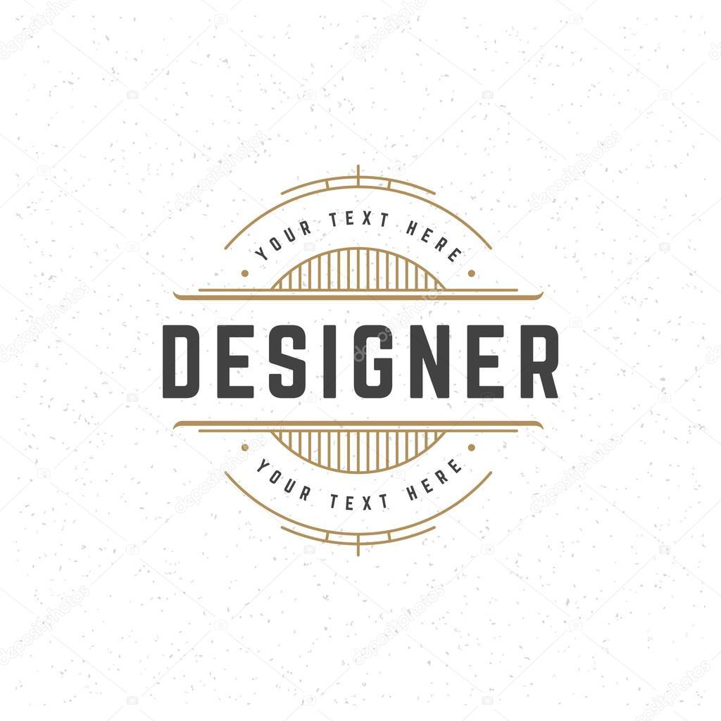 Designer Design Element in Vintage Style