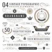 Fotografia Elementi di design tipografico vintage retrò