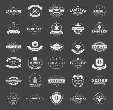 Retro Vintage Logotypes or insignias set