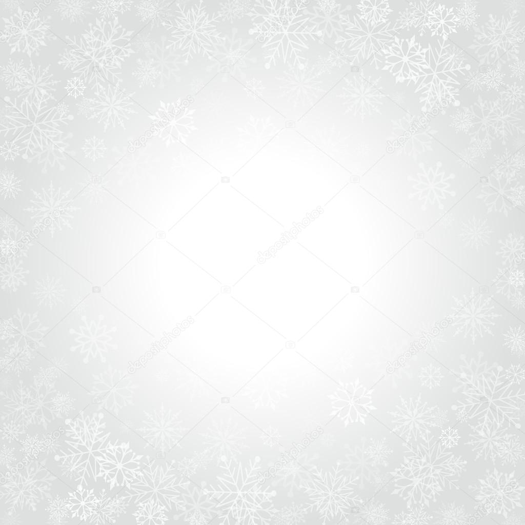 Christmas snowflakes and celebration light vector background