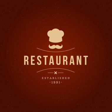 Restaurant Design Element in Vintage Style for Logotype