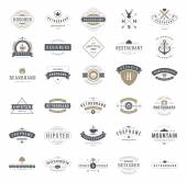 Fotografie Retro Vintage Logotypes or insignias set. Vector design elements
