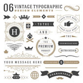 Photo Retro vintage typographic design elements